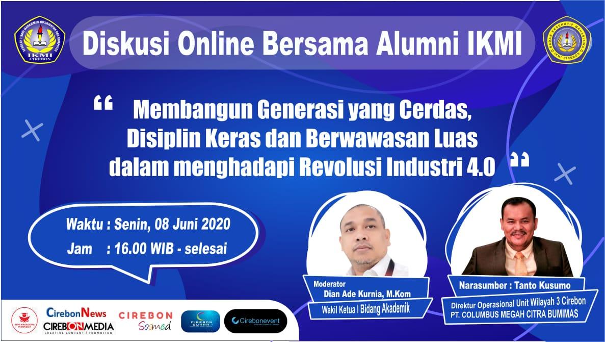 Diskusi Online bersama Alumni STMIK IKMI Cirebon